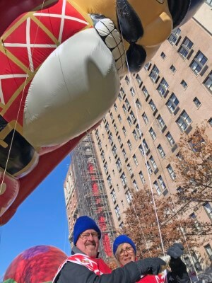 Jeff and Kim Gould Macy's Thanksgiving Parade